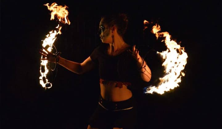 Fire juggler and performer at a brilliant event in Dublin and Kildare
