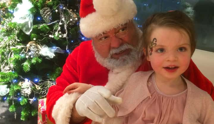 Online zoom shows for children with Santa Claus
