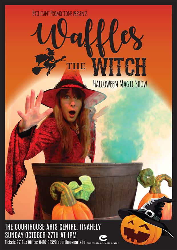 Waffles Teh Witch halloween Magic show for children in Ireland