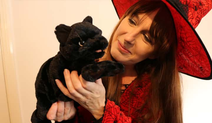 Waffles the Witch's Tricks & Treats​ halloween theatre show for children